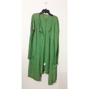 S Pete & Greta by Johnny Was Green Long Cardigan
